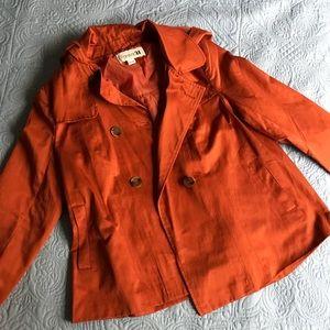 Burnt Orange Button Up Jacket